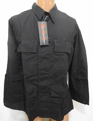 Military Outdoor Clothing MOC Jacket Mens M BDU Black Rip-Stop Cotton Blend NEW