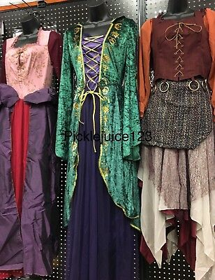 HOCUS POCUS SANDERSON SISTER WITCH DRESS HALLOWEEN COSTUME YOU CHOOSE!