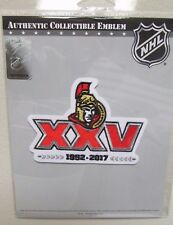 OTTAWA SENATORS 25th ANNIVERSARY NHL HOCKEY JERSEY PATCH EMBLEM