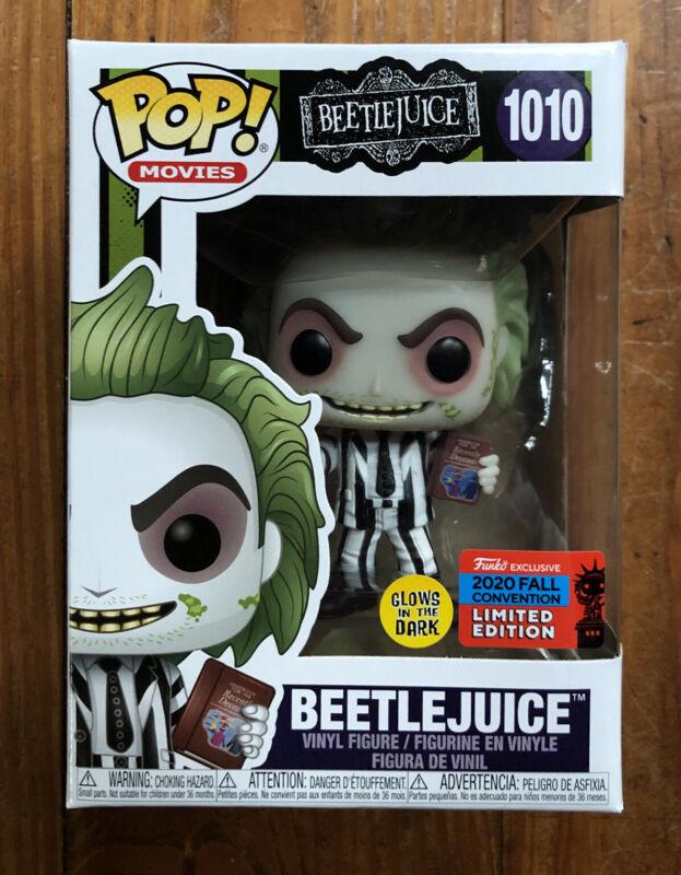 NYCC 2020 Shared Sticker PRE ORDER Funko Pop Vinyl Beetlejuice #1010