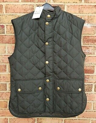 NWT Barbour Lowerdale Quilted Vest Men's M / L Sage Green Gilet