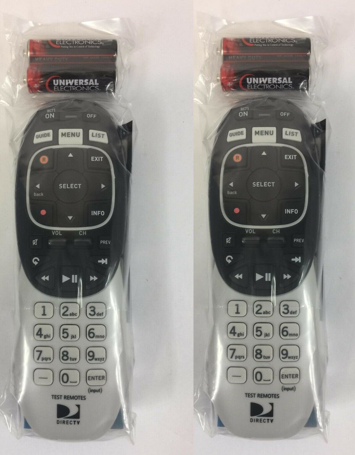 rc71 2 pack rf ir remote control