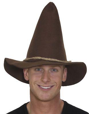 Brown Felt Scarecrow Hat Adult Size