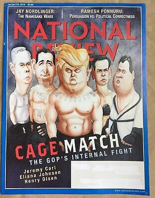 NATIONAL REVIEW Magazine January 25, 2016 GOP Internal Fight, Trump, Jeremy (National Review Magazine)