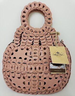 Patricia Nash TICCI Blush Leather Chainlink Shoulder Bag Purse Crossbody NWT