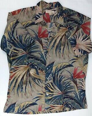 Tori Richard Mens Hawaiian Shirt XL Bird of Paradise Banana Leaves Cotton Lawn Bird Of Paradise Leaves