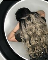 Fusion,hair extensions, tape in, microweft, microloops
