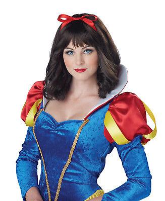 Snow White Princess Story Adult Costume Wig  - White Snow Costume