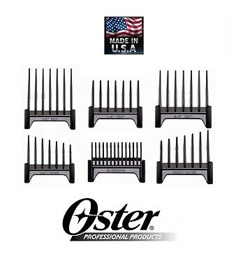 Oster 6pc Blade ATTACHMENT GUIDE COMB Set for Fast Feed,Speed Line&Vibe CLIPPERS