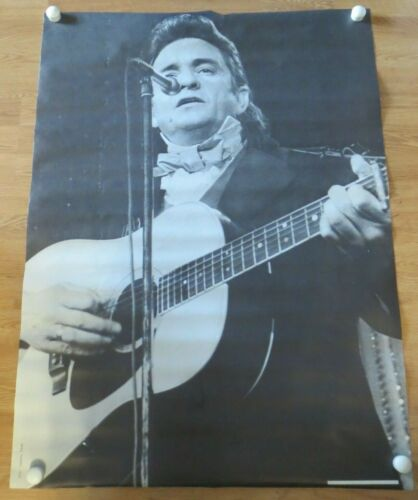 "Johnny Cash Black & White Personality Poster #670-29"" x 40"" USA"