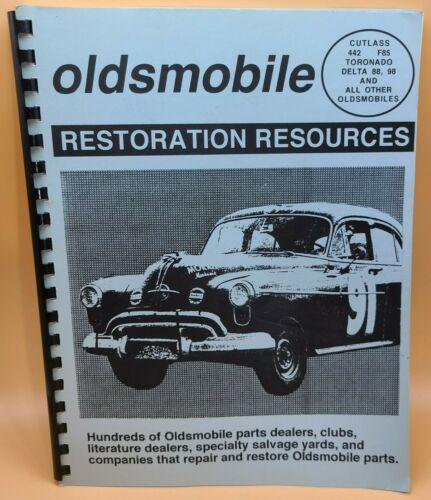 1997 Restoration Resources Oldsmobile Vintage Auto Parts Salvage Directory Book