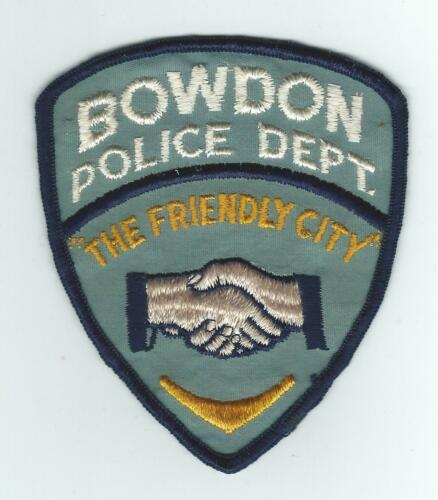 VINTAGE BOWDON, GEORGIA POLICE DEPT. (CHEESE CLOTH BACK) patch