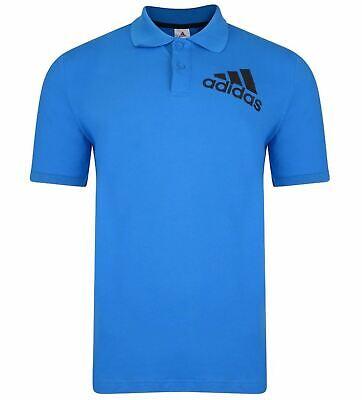 Adidas Essentials Mens Short Sleeve Pique Spelto Polo Shirt Top Blue (AZ6283)