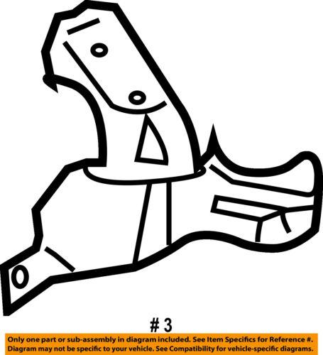 MAZDA OEM 10-13 3 Fender-Stay Support Bracket Right BBM452140