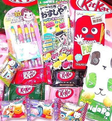 Japanese Candy SUSHI Gummy Pencil Chocolate Panda Cookie KitKat & Hello Kitty