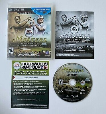 Tiger Woods PGA Tour 14 Masters Historic Edition Sony PlayStation 3 2013 Golf