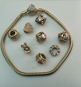 Mhj yellow gold and diamond braclet and charms Leumeah Campbelltown Area Preview