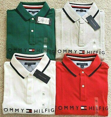 Mens Tommy Hilfiger Short Sleeve Polo Shirt (Tommy Hilfiger & Logo on Front)