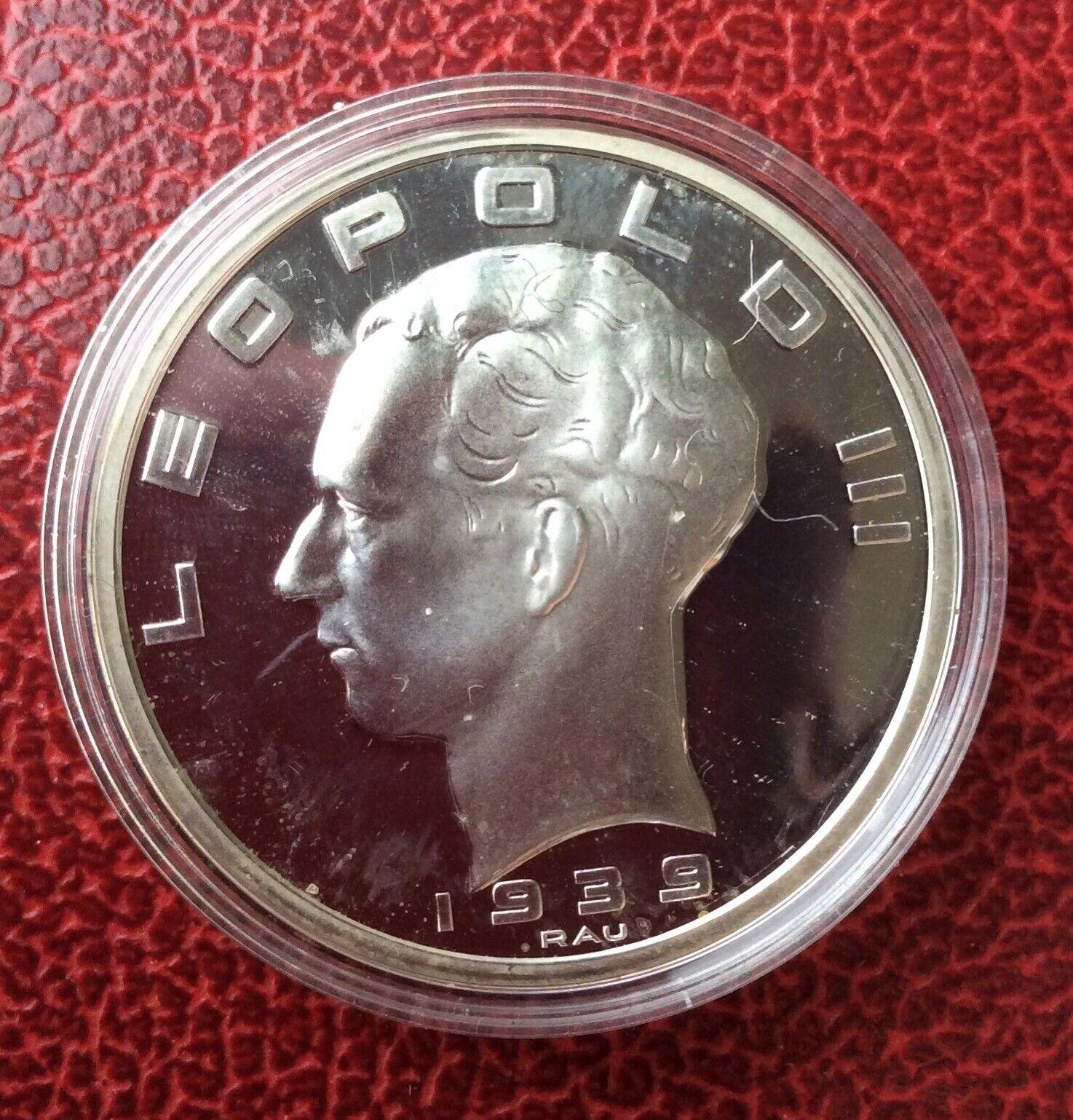 Belgique - Refrappe officielle Monnaie Royale - Rare 50 Francs 1939 FR  - Argent
