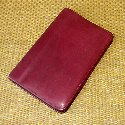 Pocket Franklin Coveyquest Burgundy Leather .6 Rings Zip Plannerbinder