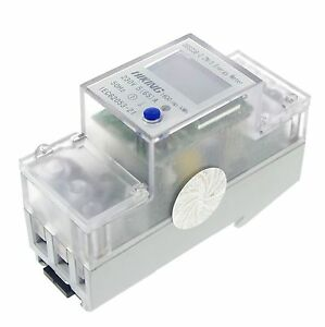 1-5-65A-230V-50Hz-Single-Phase-Reset-To-0-DIN-rail-Kilowatt-LED-Hour-kwh-Meter