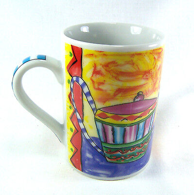 Tabletops Unlimited Invitations Porcelain Coffee Cup Mug Hand Painted Bowl