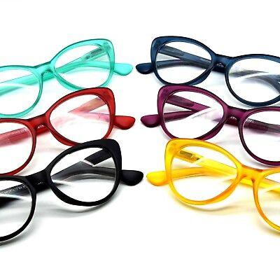 Optische Brille von Lesen Auge von Katze Großartig Farbig Retro Cat Eye