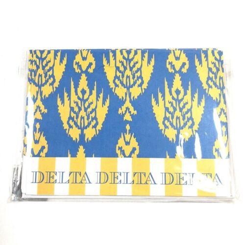 Inviting Company Tri Delta Tri-Delt sorority blue yellow note cards stationary
