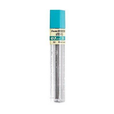 50-2b Pentel Super Hi-polymer Lead Refills 0.7mm 12 Leadstube Pack Of 1 Tube