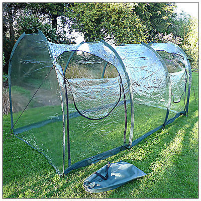 3m L x 1.5m W x 1.5m H Clear Vegetable Fruit Vegetable Polytunnel Grow Tunnel