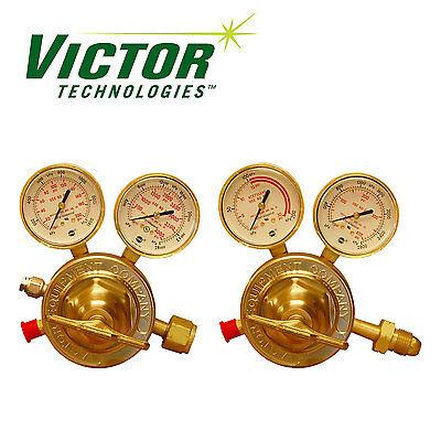 Set Of Genuine Victor Sr450 Series Hd Oxygen Hd Acetylene Regulators