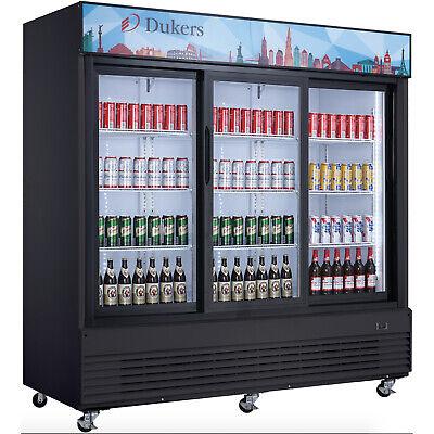 New 3 Glass Sliding Door 78 Merchandiser Display Cooler Dukers Dsm-68sr 2238