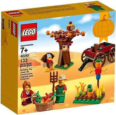 2017 LIMITED RELEASE LEGO SEASONAL THANKSGIVING HARVEST 40261, NEW & SEALED