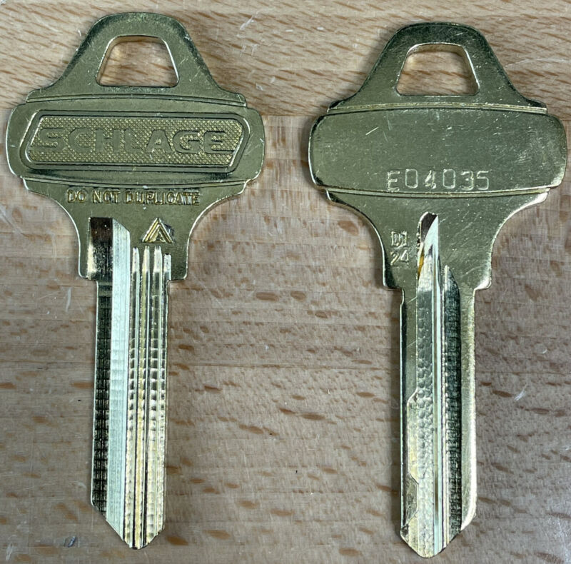 SCHLAGE EVEREST D124 Restricted Key Blanks (Qty 2) - Locksmith