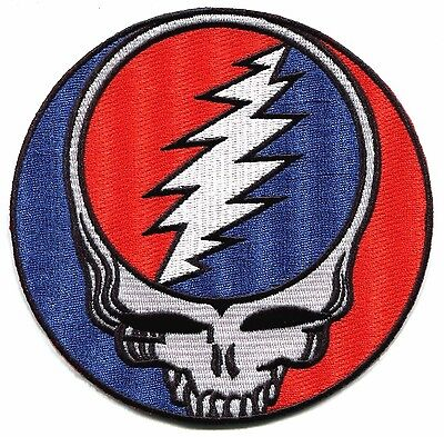 """GRATEFUL DEAD classic steal your face 5"""" IRON ON PATCH **Free Shipping** p1217"""