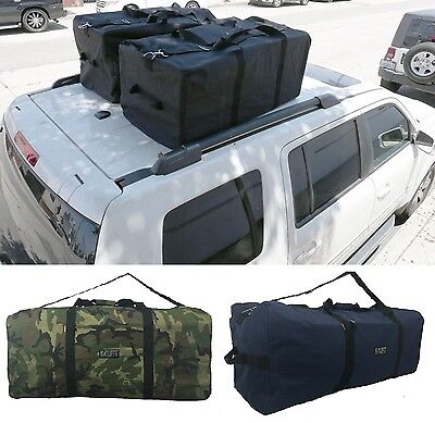 "42"" Square Duffel Bag Heavy Duty Jumbo Gear Luggage Travel Cargo Black Camo Navy"