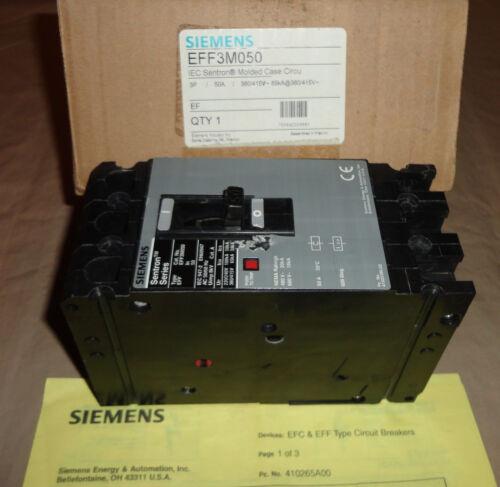 Siemens EFF3M050 Circuit Breaker 3 Pole 50 Amp EF NEW