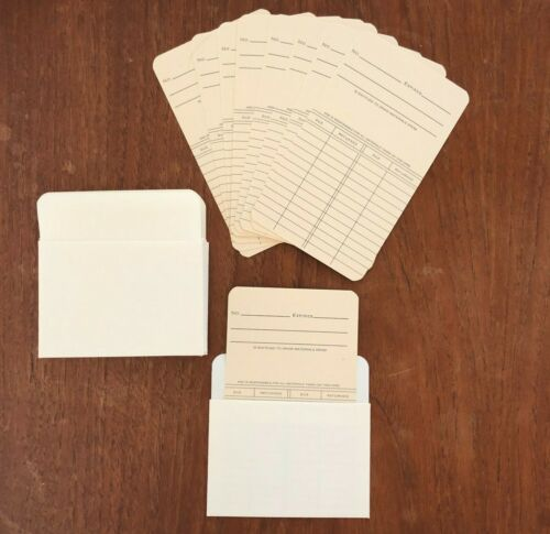 Journal Scrapbooking Supplies Library 10 Cards & 10 Pockets Vintage Style