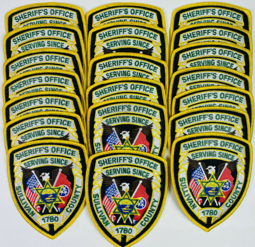 20 Sullivan County Sheriff Tennessee TN Patches Collection Trader Dealer Lot