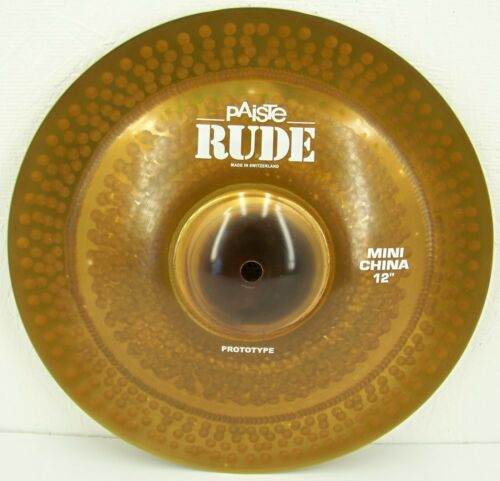"Paiste RUDE 12"" Mini China Cymbal/New-Warranty/Model # CY0001122612/Custom Shop!"