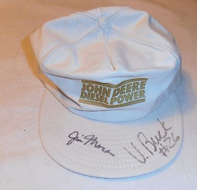 VINTAGE OLD JIM MORA VINCE BUCK SIGNED CAP W/ COA NEW ORLEANS SAINTS