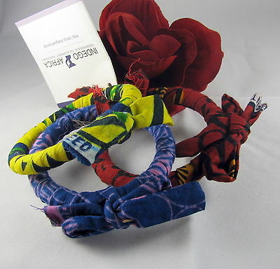 Gorgeous Indego Africa Colorful Bangle Bracelets CAT RESCUE