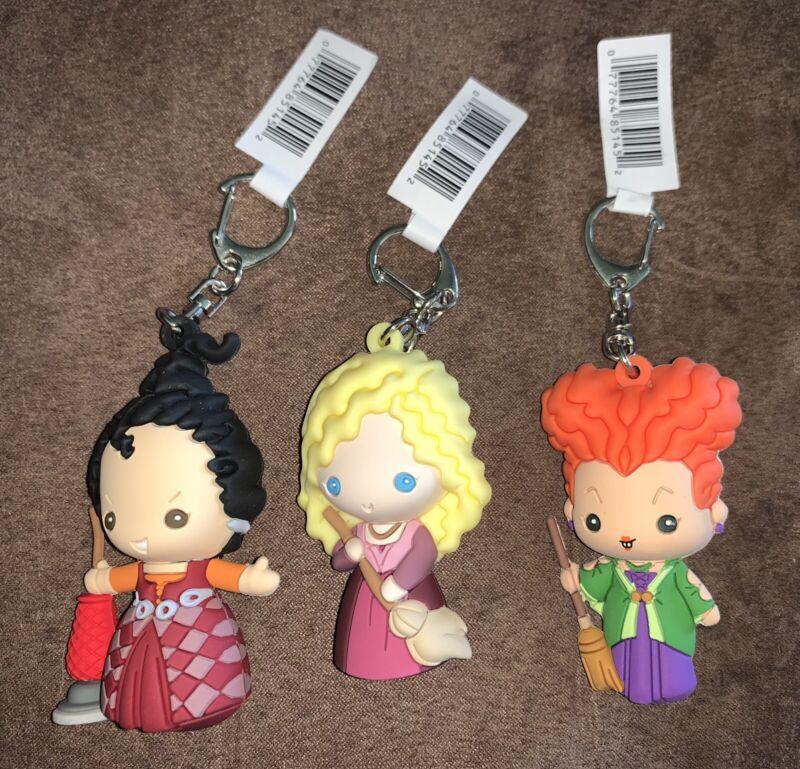 Disney Hocus Pocus Figural Bag Clip Keychain Series 2 Sarah, Mary, Winnie