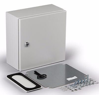 Electrical Enclosure Ul Nema 4x Steel Hinge Door 20x16x8 W Back Plate Lp66
