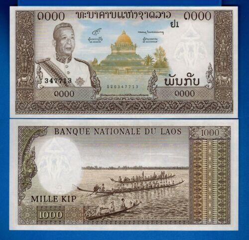 Laos P-14b 1000 Kip Year ND 1963 Uncirculated Banknote Asia