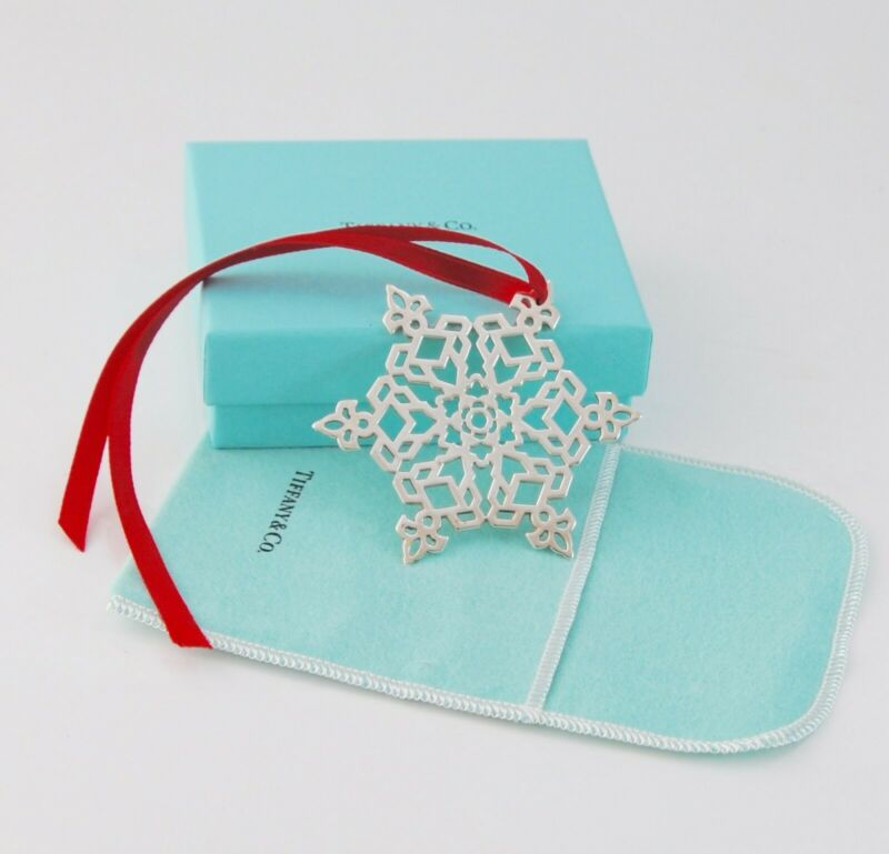 Tiffany & Co. Sterling Snowflake Ornament