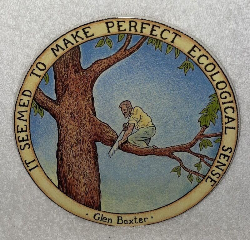 GLEN BAXTER CARTOONIST PLATE MAKE PERFECT ECOLOGICAL SENSE