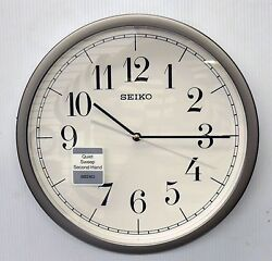 SEIKO HESTOR 12.25 ROUND  WALL CLOCK WITH QUIET SWEEP QXA636SLH