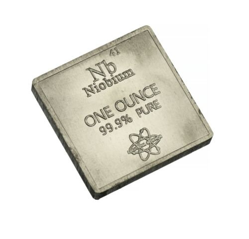 Niobium .999 1 oz Troy Ounce Bar for Bullion or Element Collection USA SHIPPING
