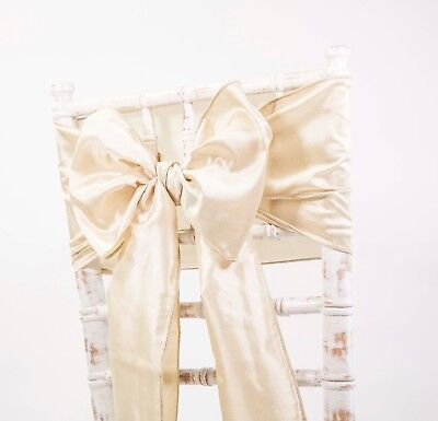 CLEARANCE TAFFETA SASHES - CHAIR BOWS - WEDDING EVENTS PARTY DECOR